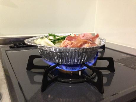 セブン鶏鍋-加熱