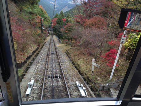 御岳山ケーブルカー-景観