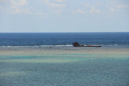 西表島 座礁船
