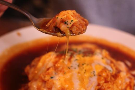 若鶏のチーズオムライス2