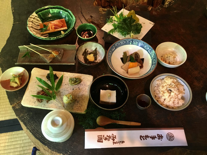 みたき園「杉」コースの料理
