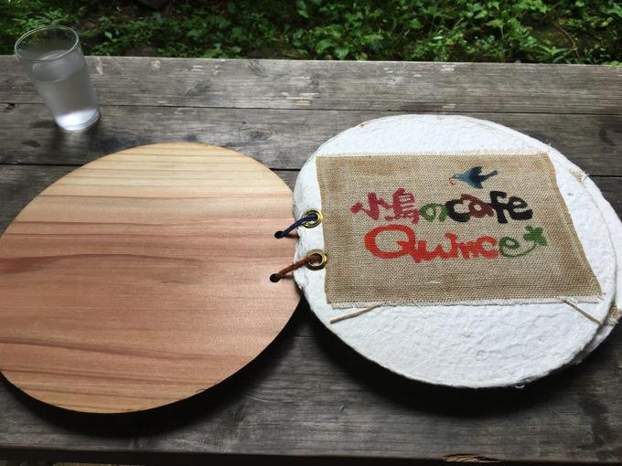 小鳥のcafe Quinceのメニュー