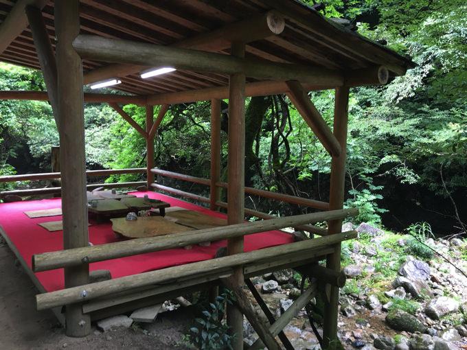 みたき園_川床の席